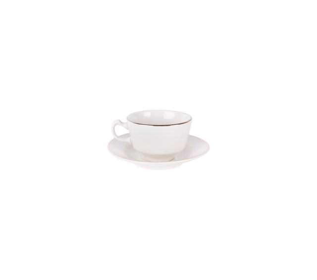 Ivory with Gold Border, Coffee Cup