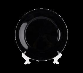 "Black China, 10"" Dinner Plate"