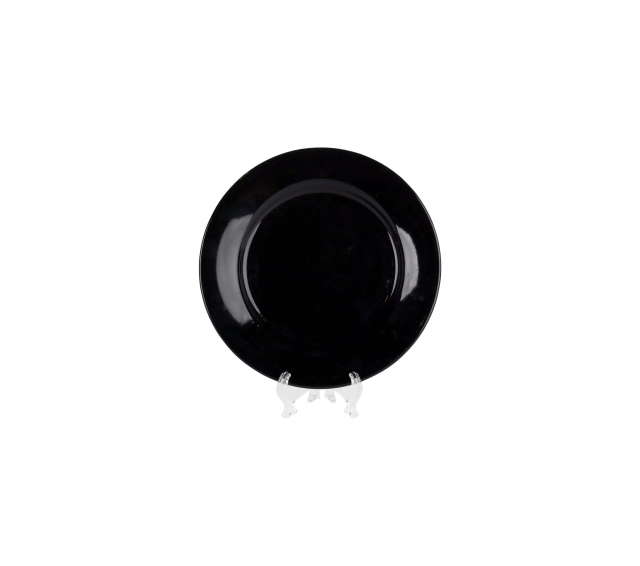 """Black China, 6"""" Bread/Butter Plate"""