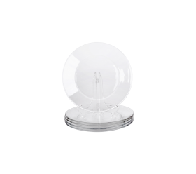 "Clear Glass, 8"" Salad Plate"