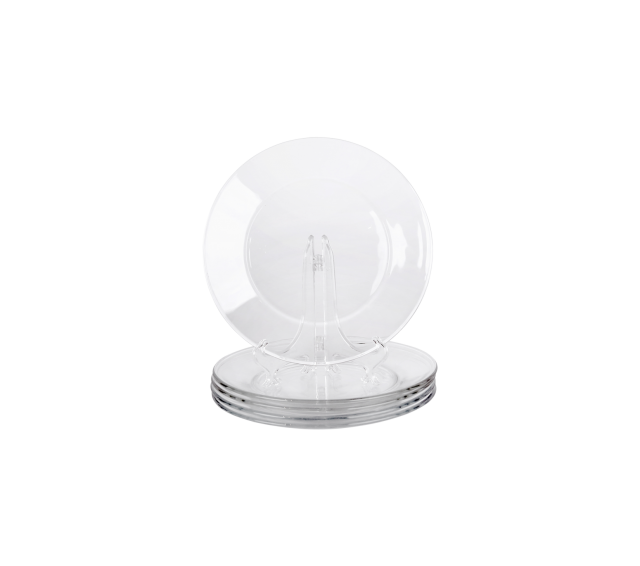 """Clear Glass, 8"""" Salad Plate"""