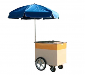 Ice Cream Cart with Umbrella