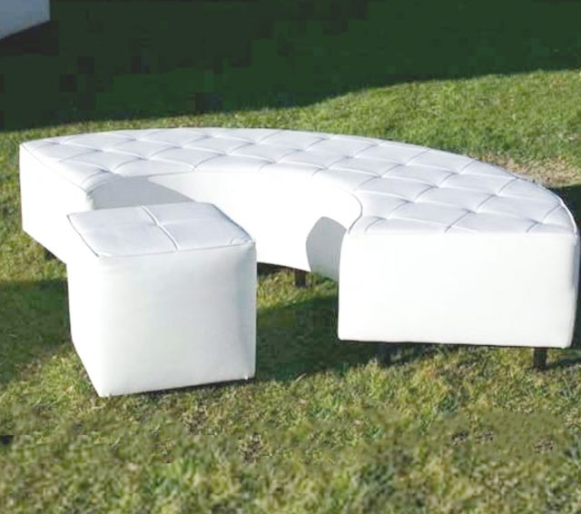 """Lounge Furniture, 24"""" X 84"""" Curved Bench"""