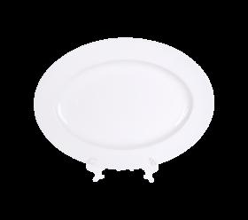 """White China, 13"""" X 18"""" Platter"""