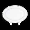 "Platter White/Silver China 12"" X 16"""