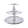 3-Tier Polished Stainless Tray