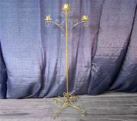 Candelabra, 3 Branch Gold