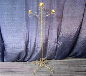 Candelabra, 3 Branch Gold