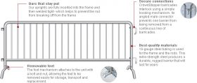 4' x 6.5' Bike Barricades Metal