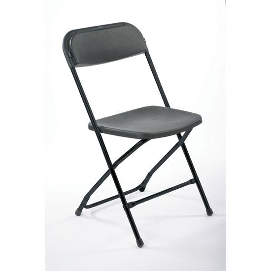 Chair, Black Plastic Folding