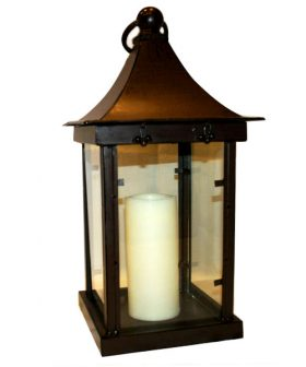 Centerpiece, Antique Candle Lantern 23""