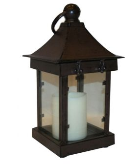 Centerpiece, Antique Candle Lantern 16""