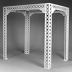 "84"" Square White Lattice Gazebo / Chuppah"