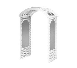 White Deluxe Lattice Arch