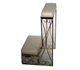Gold Metal Kneeling Bench