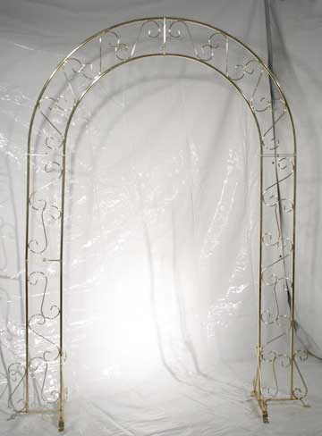 White, Gold, Black, or Silver Metal Arch