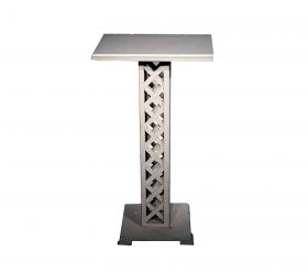 White Wood Lattice Podium