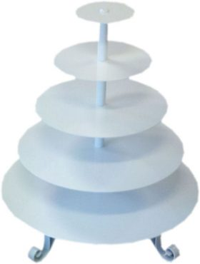 Cupcake Stand White Round 5 Tier