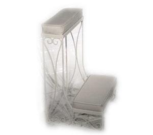 White Metal Kneeling Bench